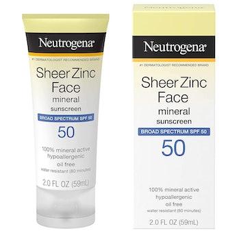 Neutrogena SPF-50 Sheer Zinc Mineral Sunscreen