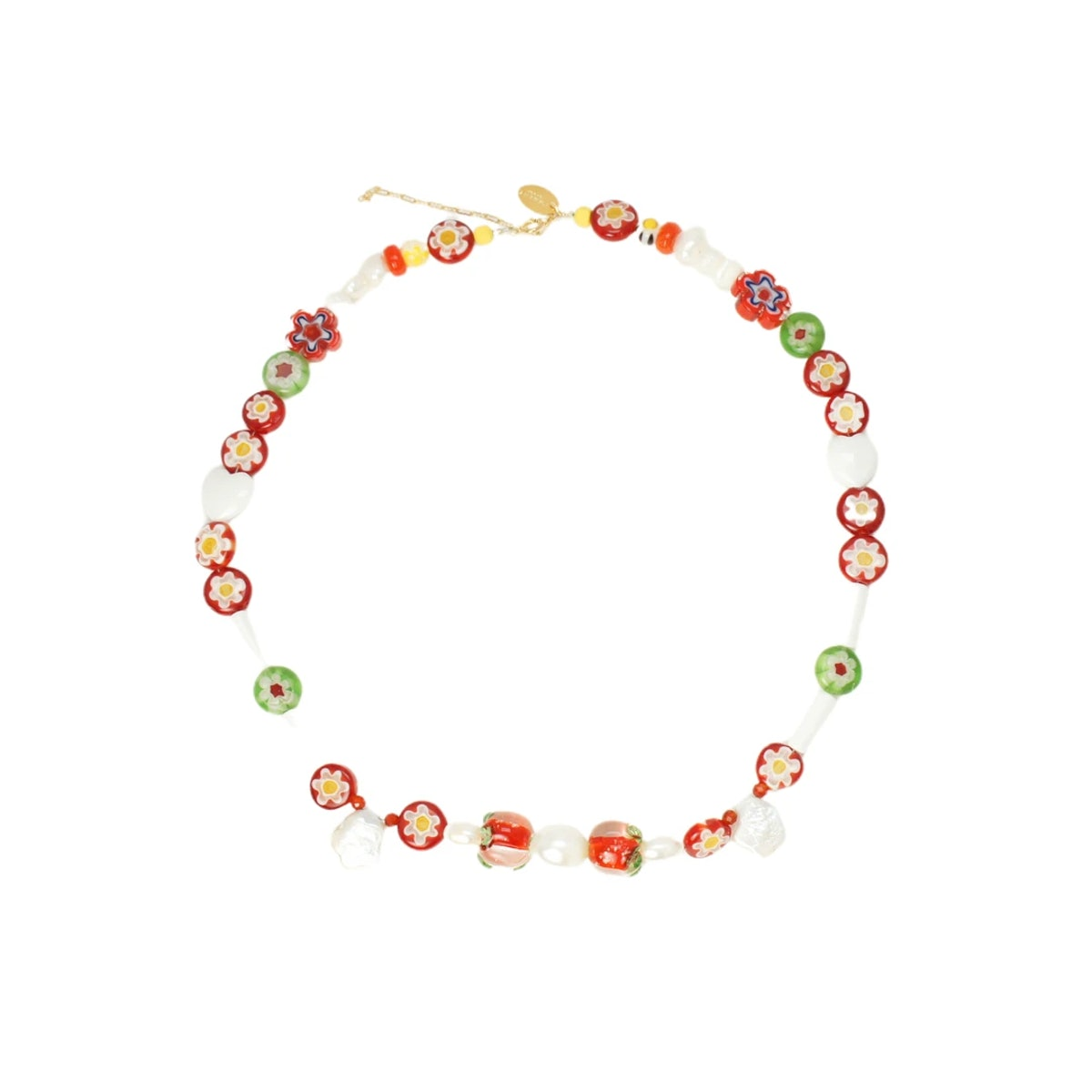 Tomato Salsa Freshwater Pearl Necklace