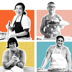 New online cooking classes (some free!) come from chefs like Niki Nakayama, Rick Martinez, Sohla El-...