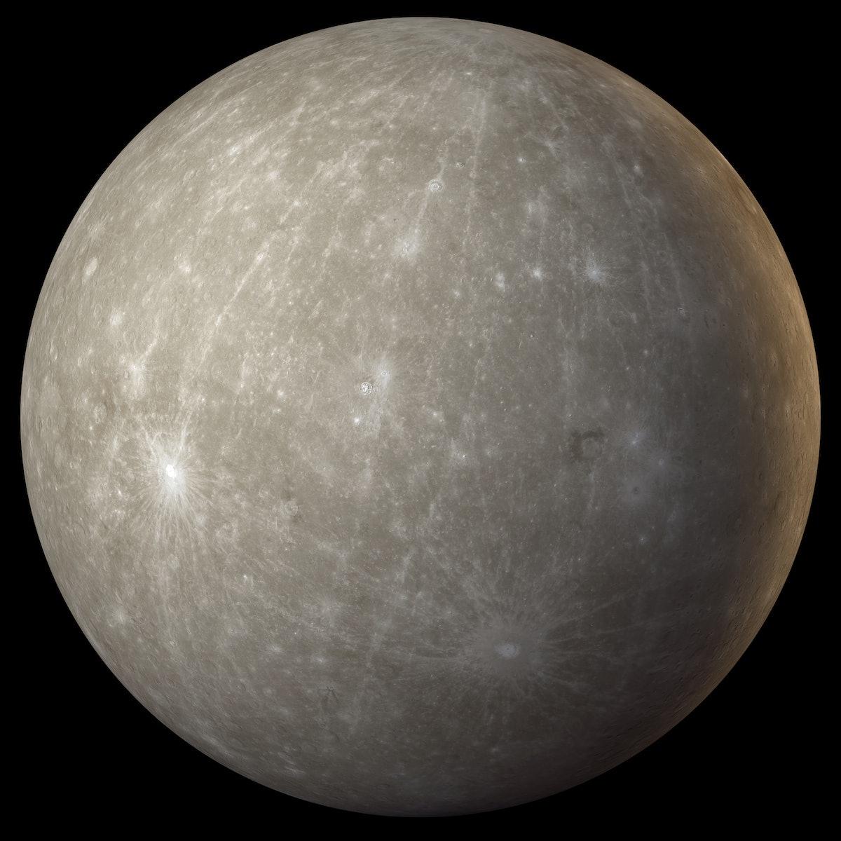 The planet Mercury during Mercury retrograde.
