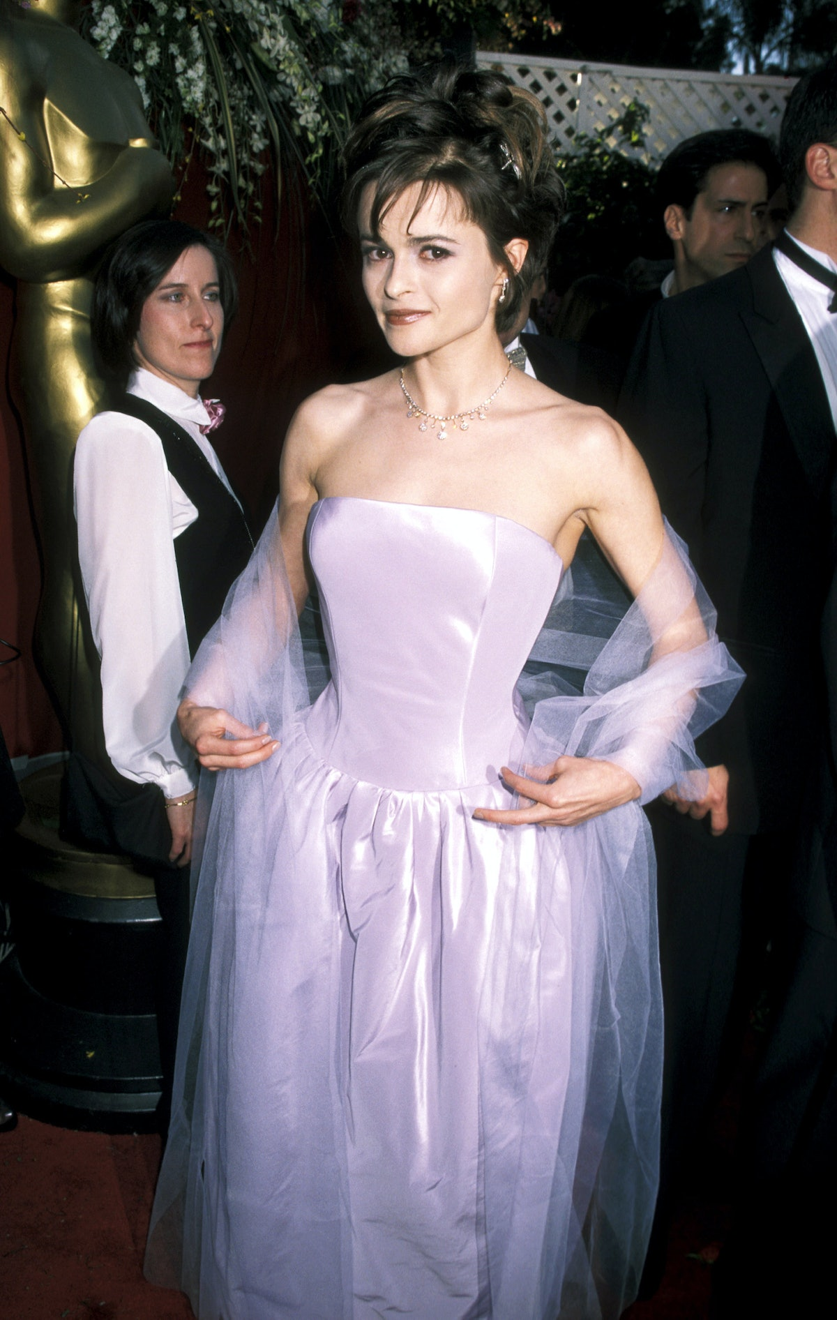 HBC in pink gown with tulle