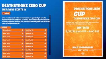 fortnite deathstroke zero cup scoring