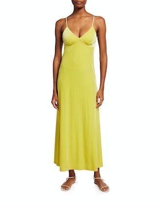 Midi-Length Slip Dress