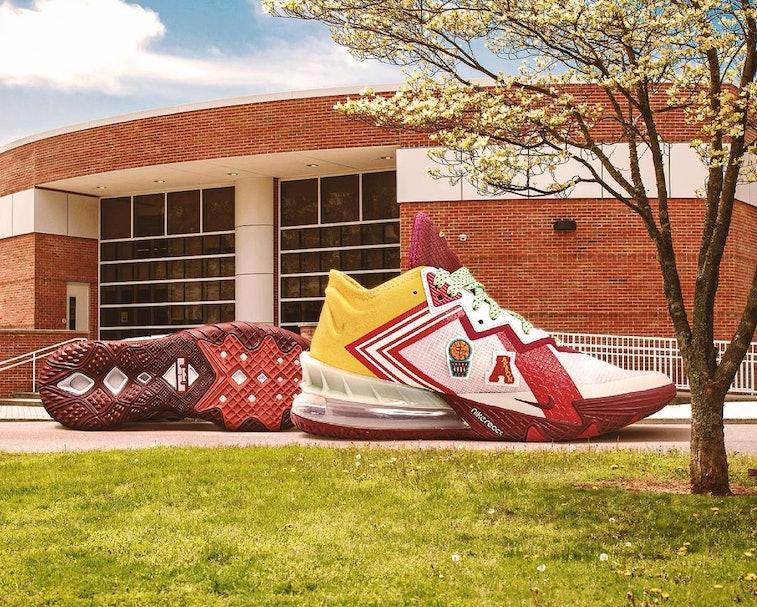 Mimi Plange Nike LeBron 18 Low Higher Learning