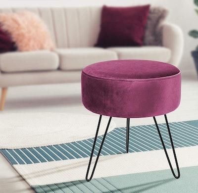 Sorbus Velvet Footrest Stool