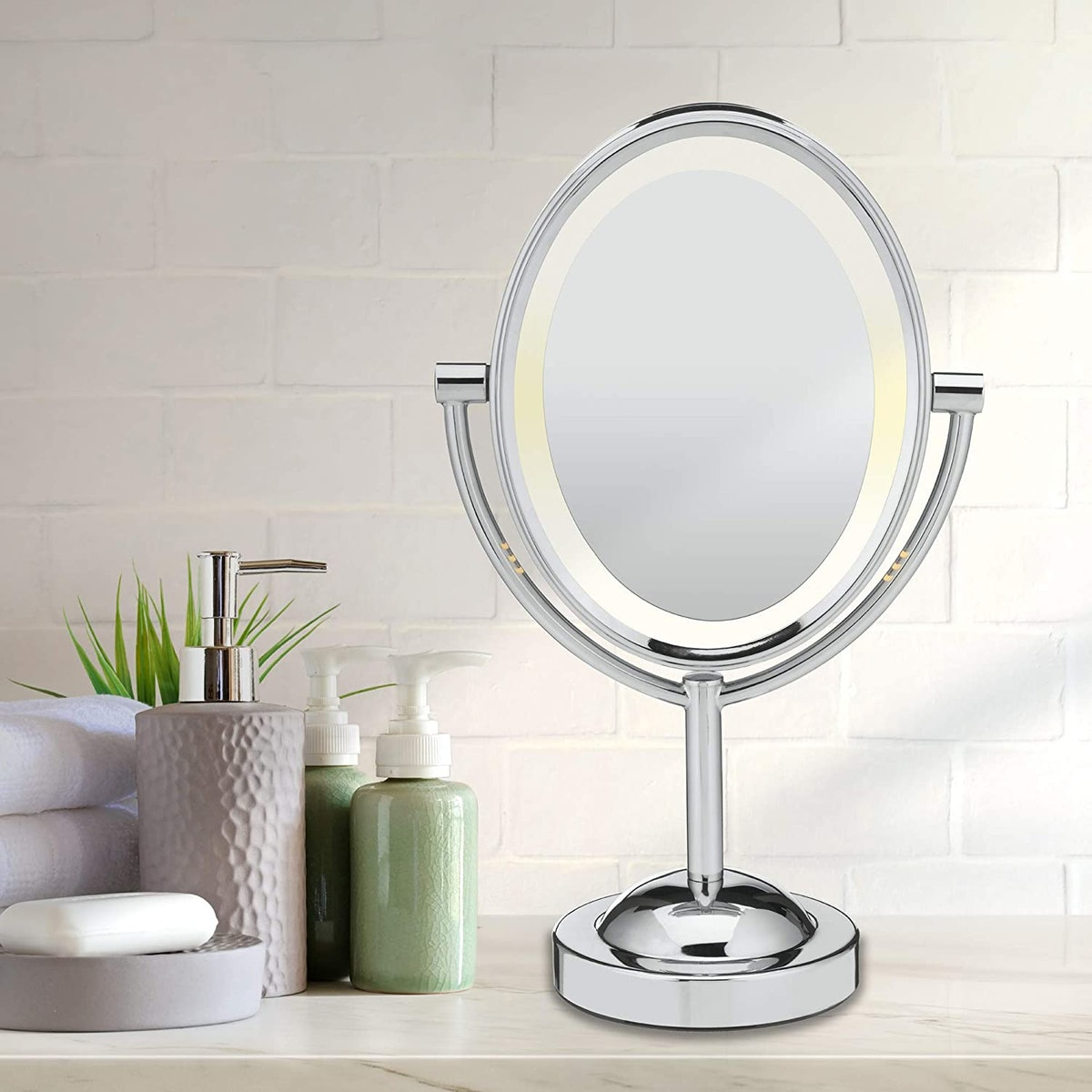 Conair Reflections Double-Sided Lighted Makeup Mirror