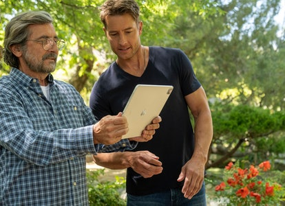 Griffin Dunne as Nicky, Justin Hartley as Kevin in 'This Is Us'