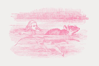 alice in wonderland mouse swimming