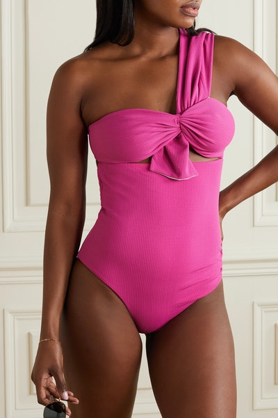 Marysia Venice One-Shoulder Cutout Swimsuit