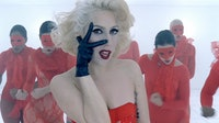 "A still from Lady Gaga's ""Bad Romance."""