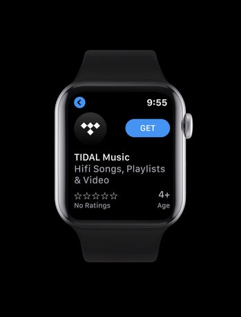 Music streaming service Tidal has released an app for the Apple Watch.