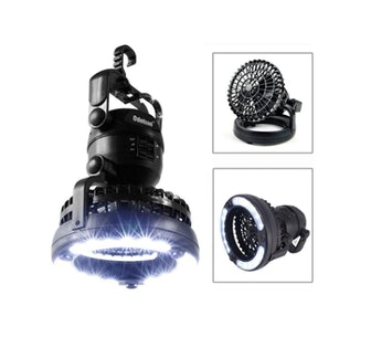 Odoland Portable LED Camping Lantern with Ceiling Fan