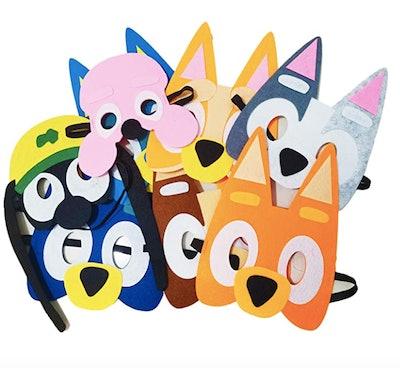 8pcs Bluey Felt Mask Set