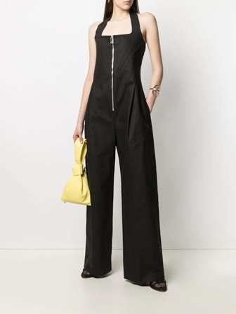 Zip-Up Linen Jumpsuit