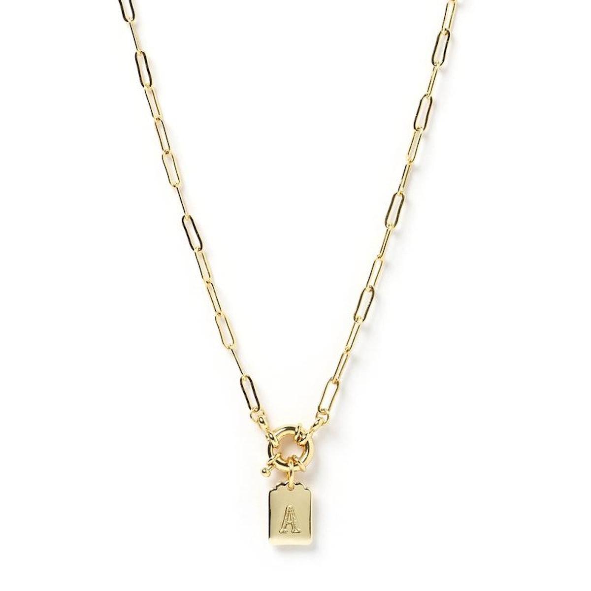 Letter Gold Pendant Necklace