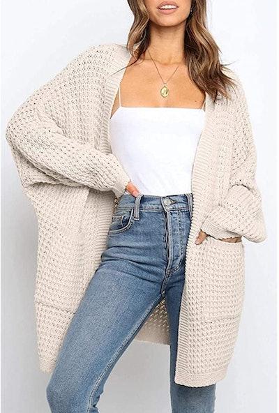 YIBOCK Chunky Knit Cardigan Sweater