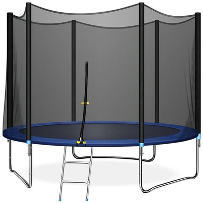 TRIPLE TREE 10 FT Trampoline with Safe Enclosure Net