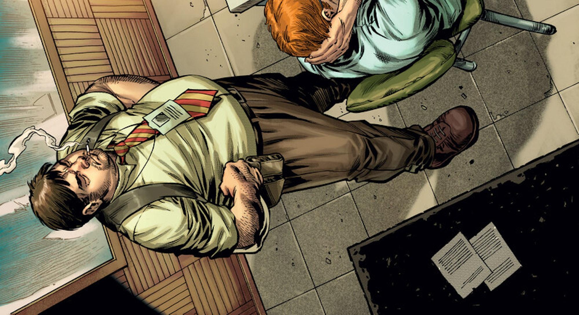 joker a puzzlebox interrogation room scene