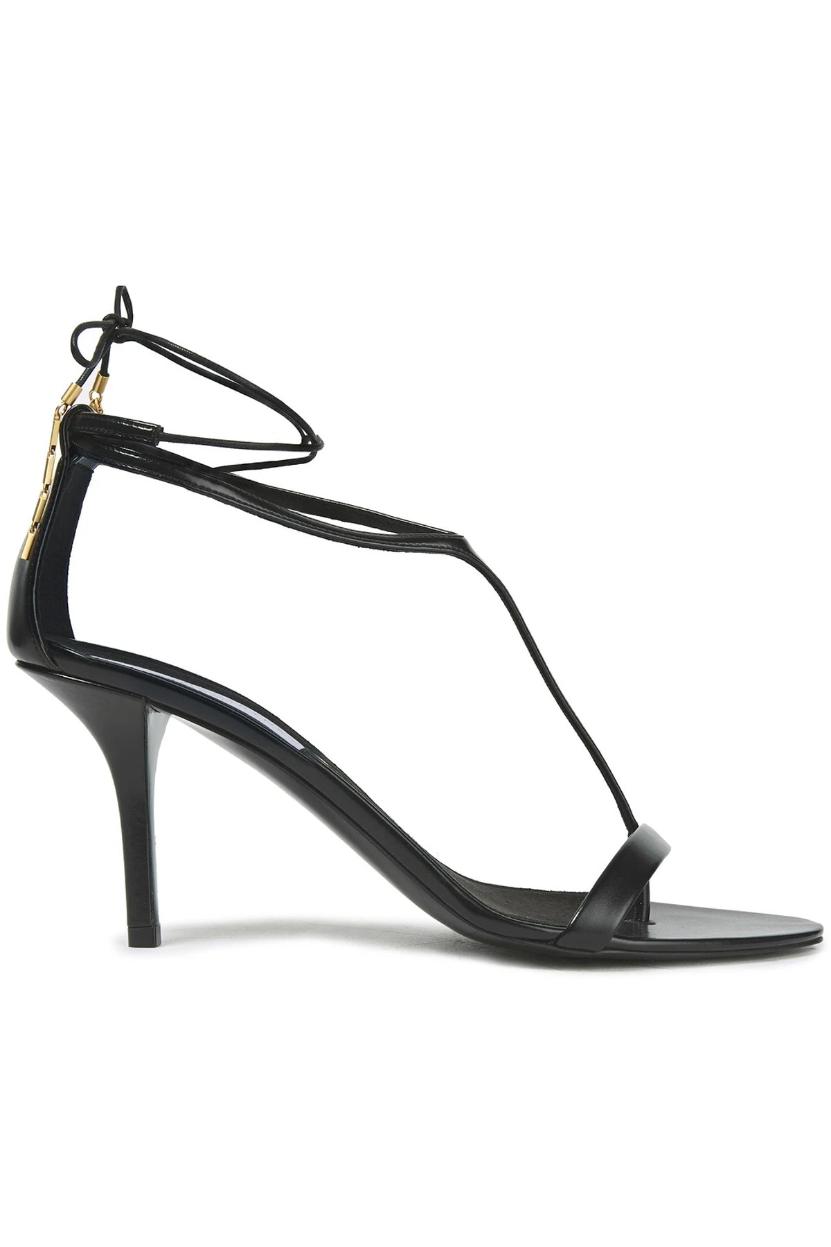 Black Chain Leather Sandals