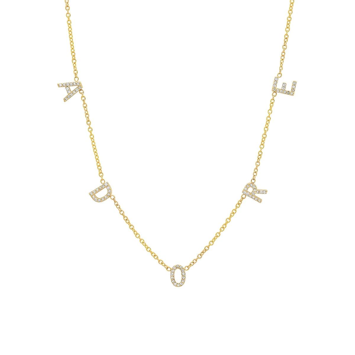 The Original Diamond Space Letter Necklace