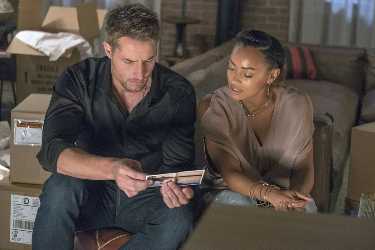 Melanie Liburd as Zoe Baker and Justin Hartley as Kevin Pearson in 'This Is Us'
