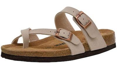 CUSHIONAIRE Luna Cork Footbed Sandal
