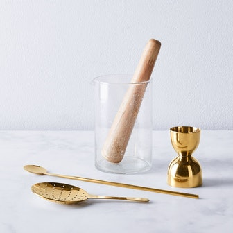Seeded Glass Cocktail Mixing Set