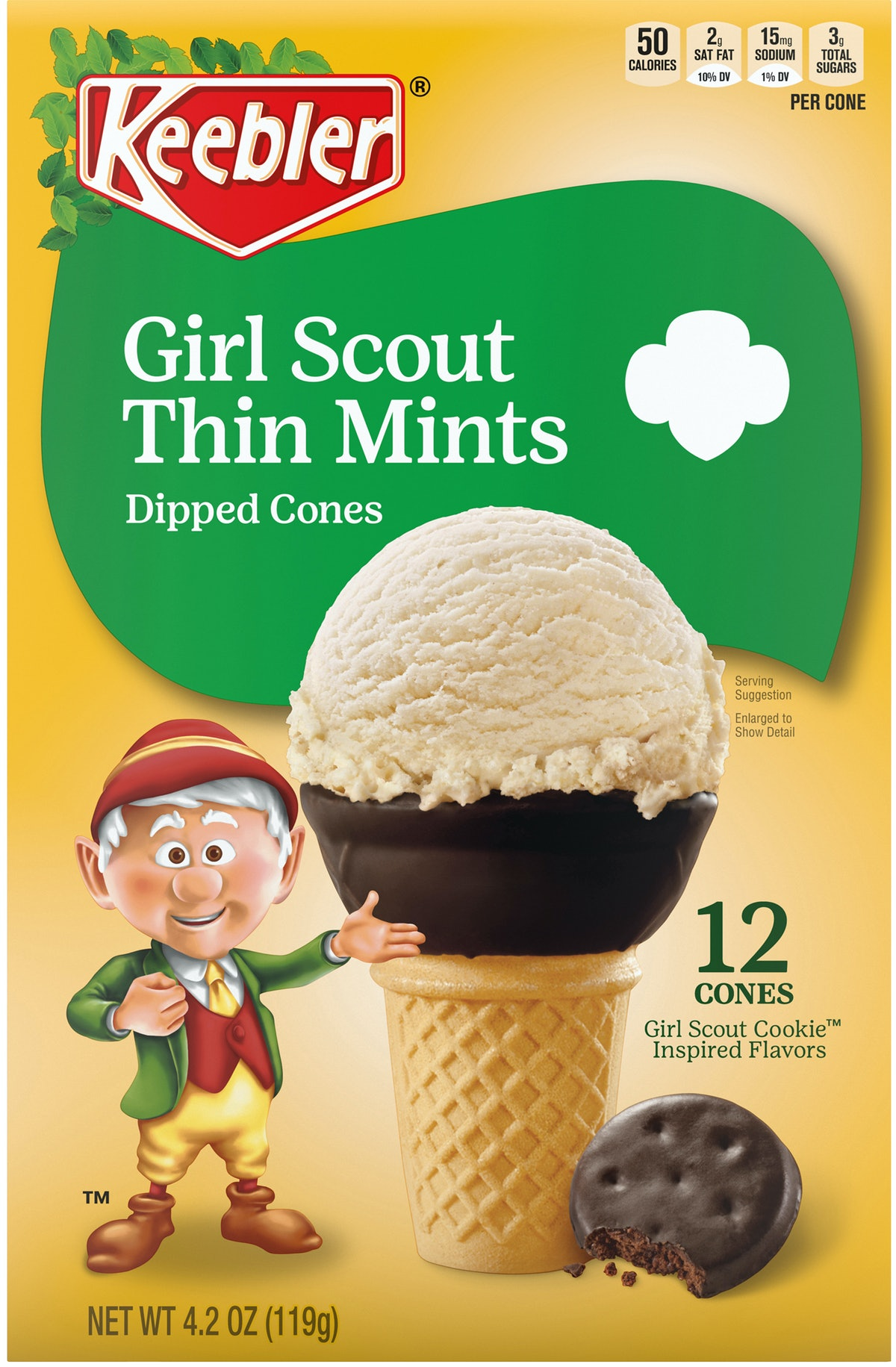 Keebler dropped Girl Scout Thin Mints Dipped Cones just in time for summer.