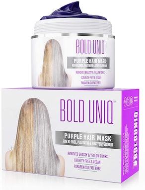 Bold Uniq Purple Hair Mask for Blonde, Platinum & Silver Hair