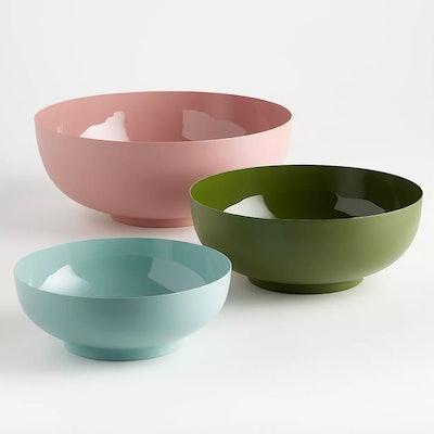 Millie Metal Serving Bowls, Set of 3