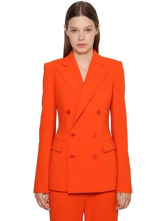 DF Wool Blend Crepe Jacket