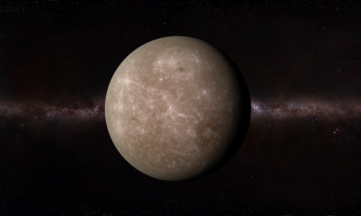 The planet Mercury ahead of Mercury retrograde spring 2021.