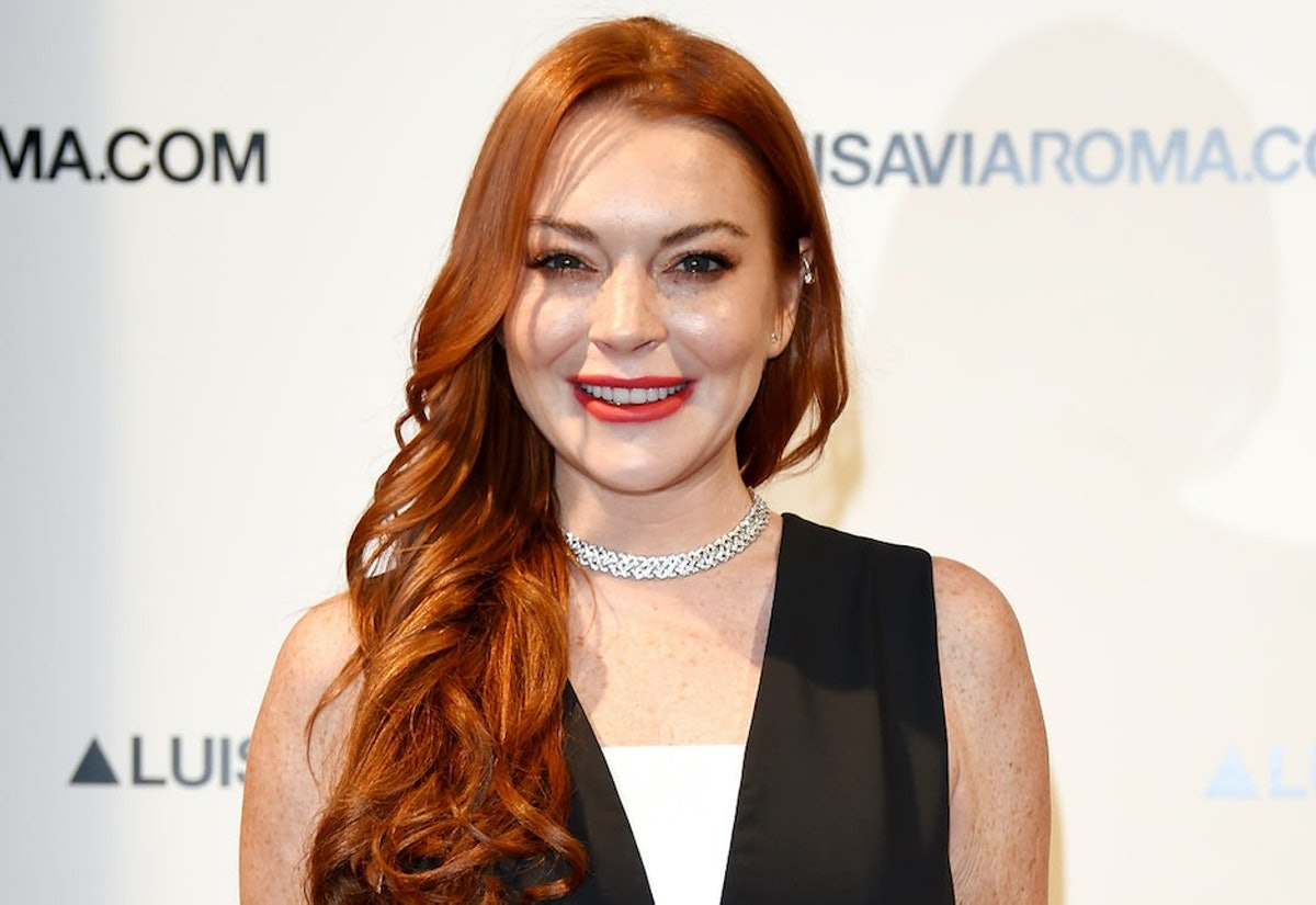 Lindsay Lohan, who's starring in a Netflix holiday rom-com