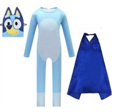 Bluey Costume With Cape And Felt Mask
