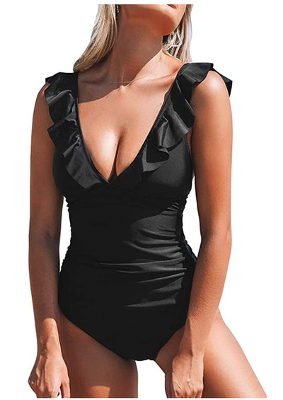 CUPSHE V-Neck One-Piece Swimsuit