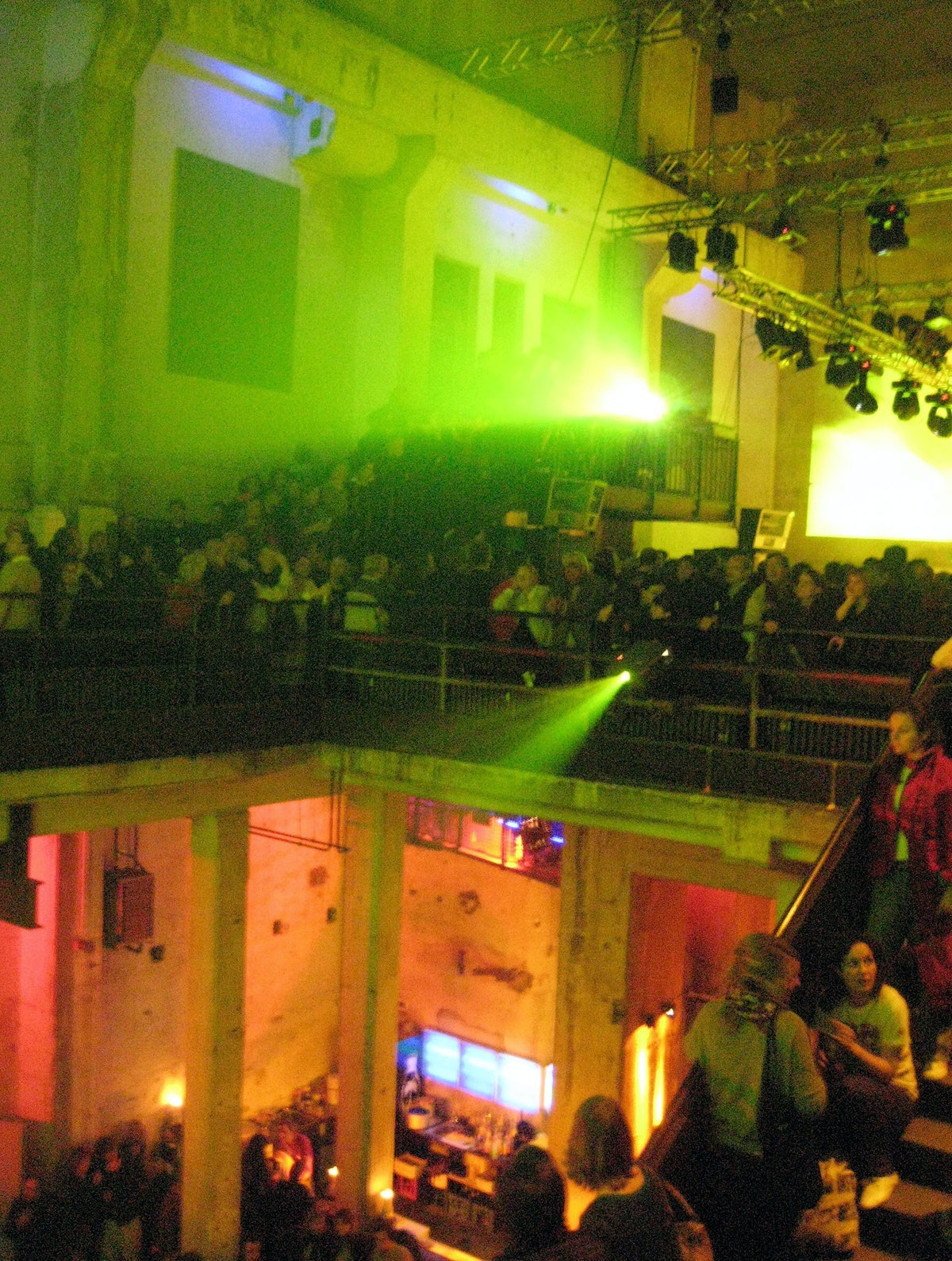 A view of the Panorama Bar, on the second floor of Berghain, Berlin, 2007.