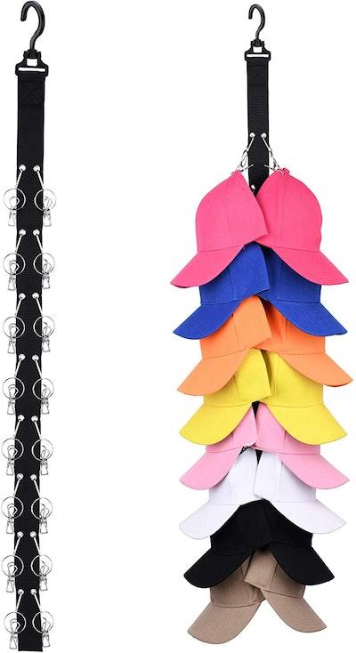 LEVOSHUA Closet Hanging Hat Organizer
