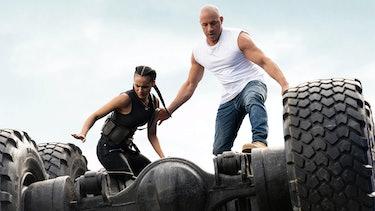 Jordana Brewster and Vin Diesel star in F9.