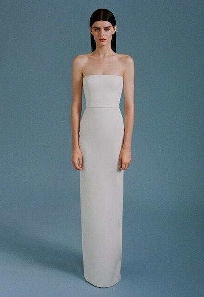 Alex Perry Paige Strapless Column Bridal Gown