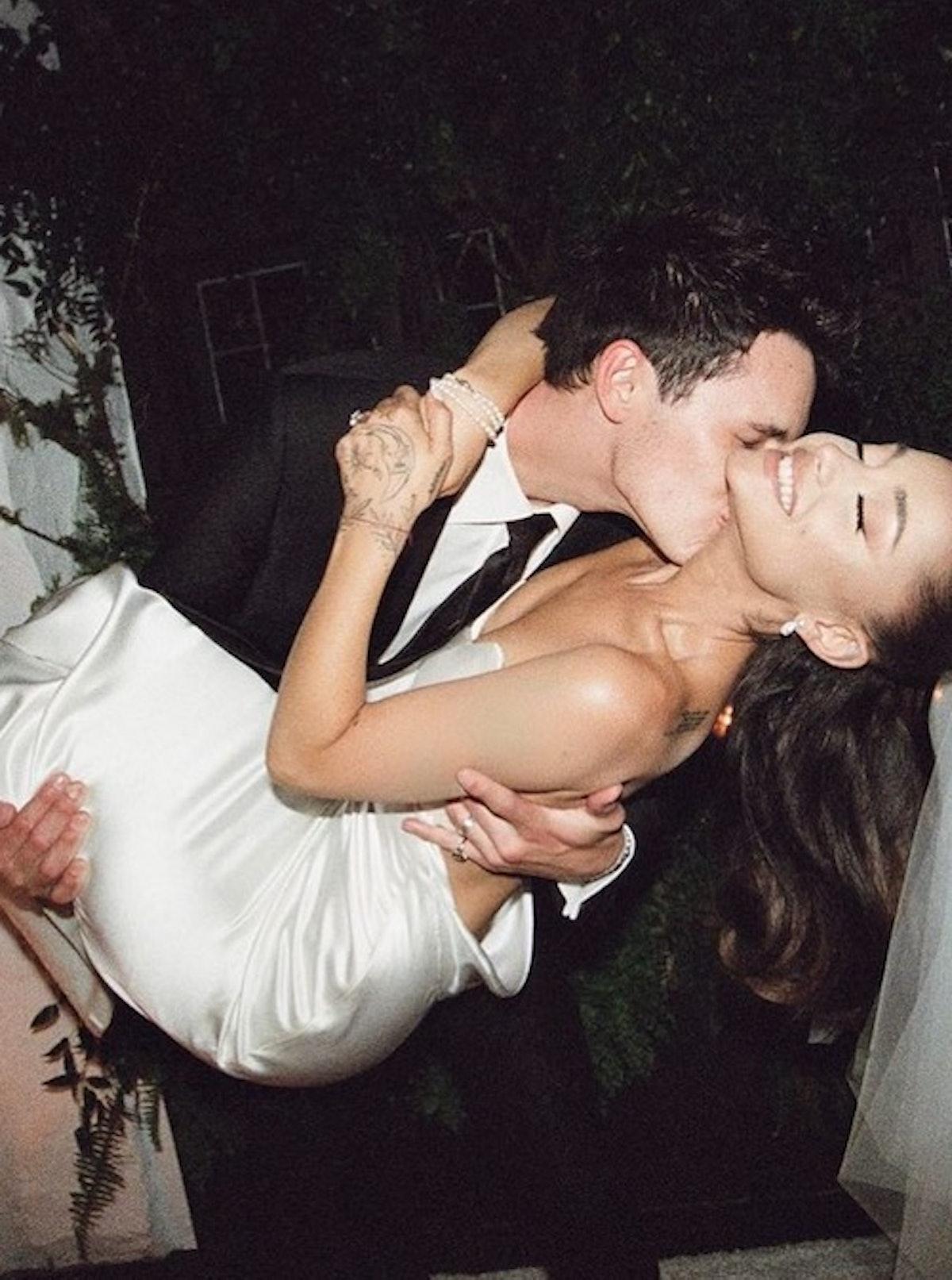 Ariana Grande wedding day hair