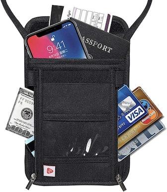 AIKELIDA Hidden Passport Holder