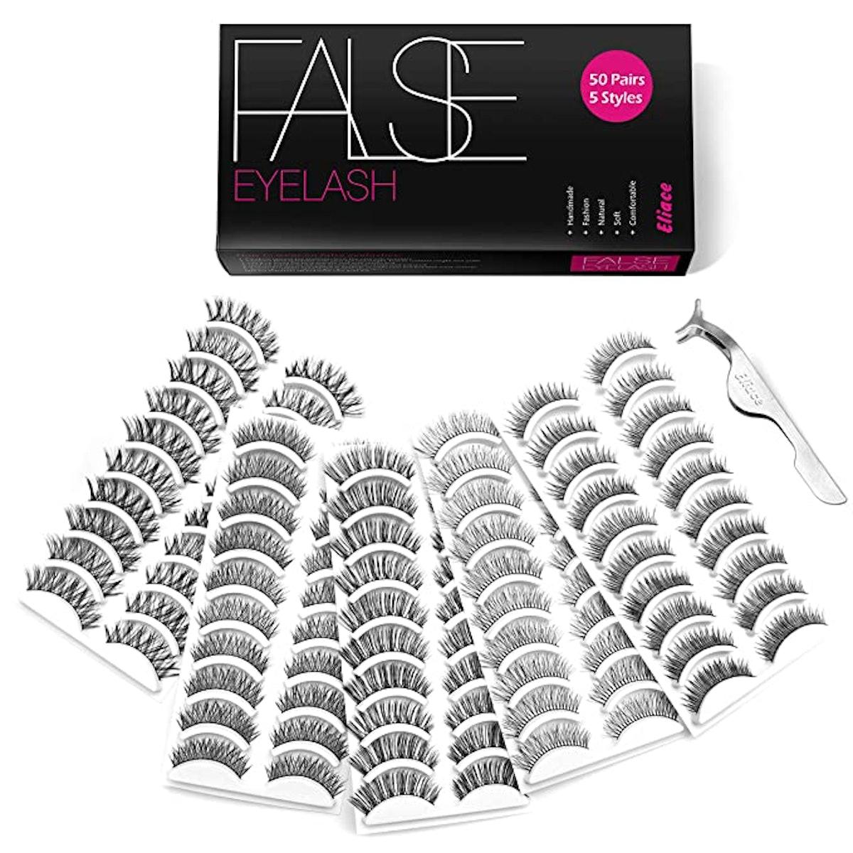 Eliace False Eyelashes Pack (50 Pairs)