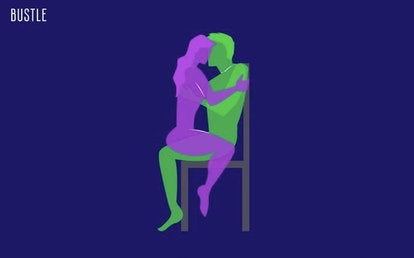 The chair sit is one dominant sex position to try.