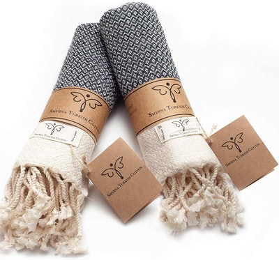Smyrna Turkish Cotton Hand Towels (Set of Two)