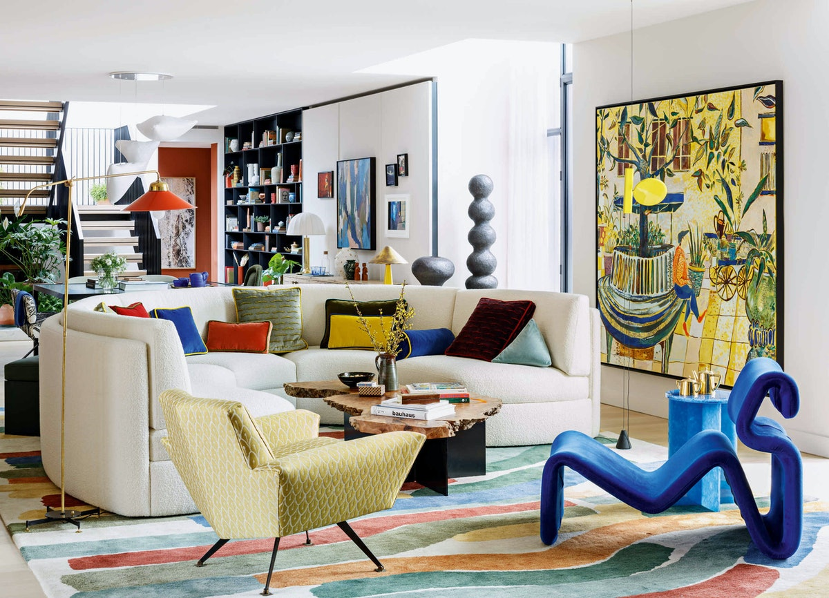 furnished room with art