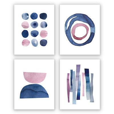 Wallways Wall Art Prints (8X10, Set of 4)