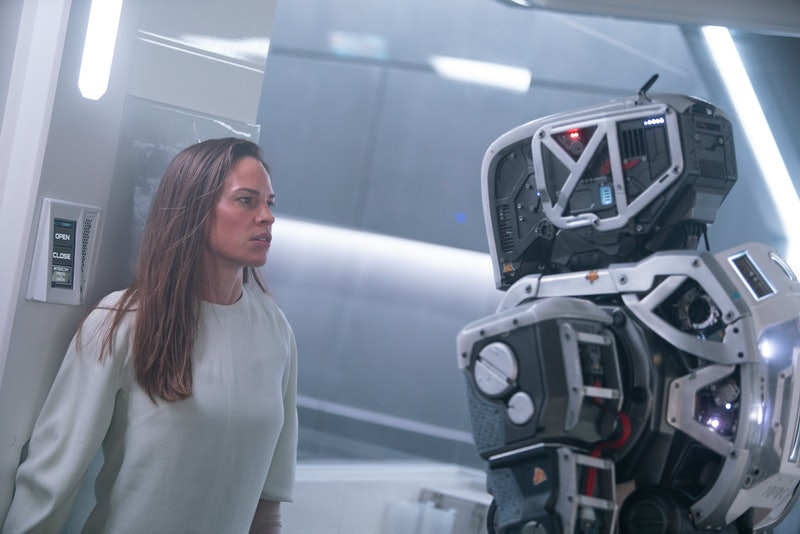 Hilary Swank in I Am Mother, one of the best sci-fi movies on Netflix.