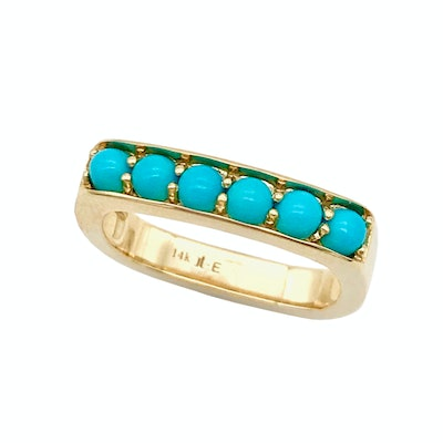 Cirque Large Square Stacking Band with Sleeping Beauty Turquoise