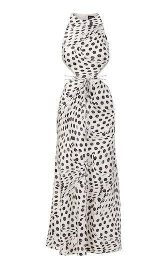 Audrey Dots Cutout Silk Dress