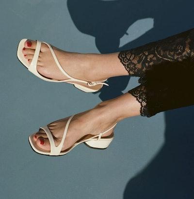 Birdie white pompéii sandals